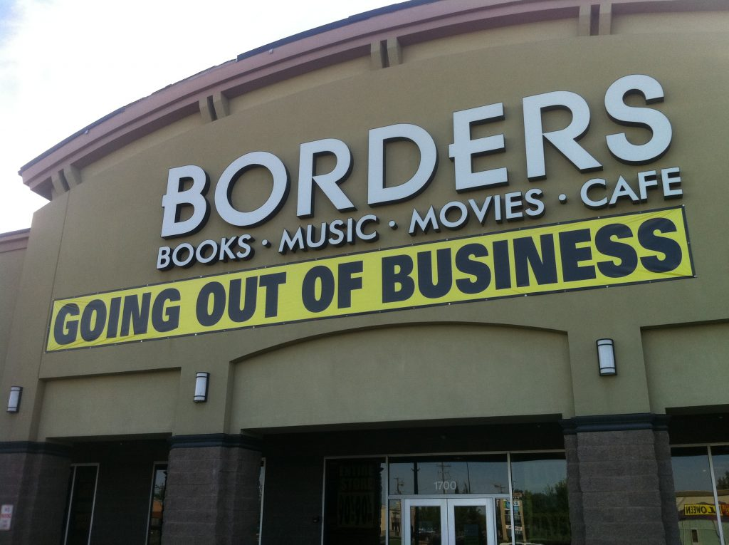 Failure of purpose - Borders bookstore closes