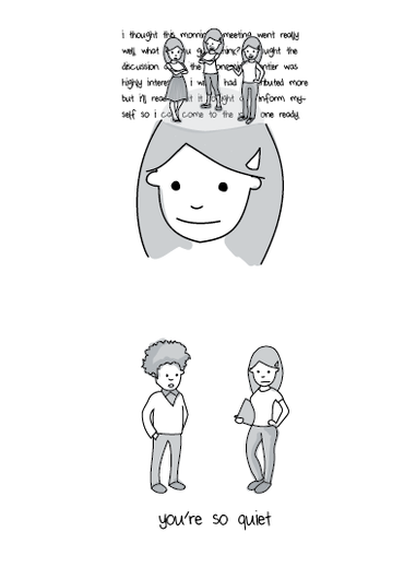 Introvert Cartoon by Liz Fosslien and Mollie West