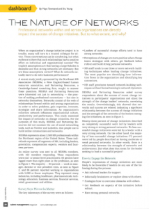 Nature of Networks article in Talent Mgmt