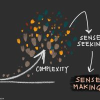 Sense making illustration by Kelvy Bird.