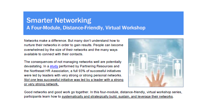 Smarter Networking Virtual Workshop Overview