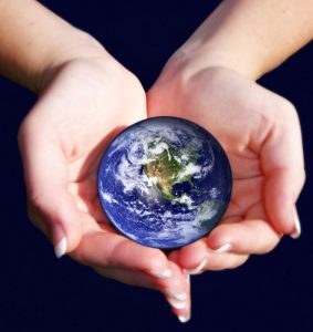 Image of world in hands